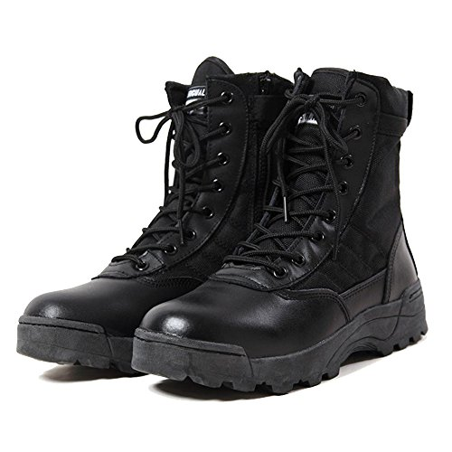 Hiking Boots Army Black Zipper YING Military LAN High Side Tactical Combat Men's Shoes Top Outdoor SqSvwXa