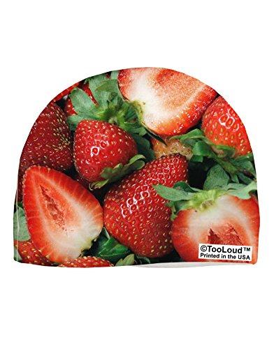 TooLoud Strawberries All Over Adult Fleece Beanie Cap