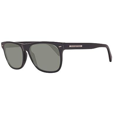 f20cf472c Image Unavailable. Image not available for. Color: Ermenegildo Zegna  Wayfarer Sunglasses EZ0020 01R Shiny Black Polarized 20