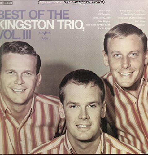 The Best Of The Kkingston Trio Vol. 2 - Capitol Records 19?? - Used Vinyl LP Record - 19?? Mono Reissue Pressing SM-1705 In Shrink Wrap - Greenback Dollar - Seasons In The Sun - Blowin' In The Wind