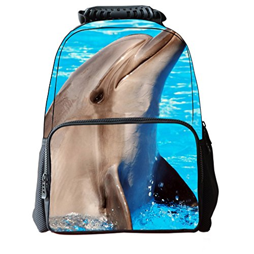 Horse Print Backpack Daypack Dolphin Boys Tiger School Dog Pattern Shineflow Bag Animals 3d Girls 4zFnp
