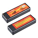 Floureon 2 Packs 7.4V 5200mAh 25C Li-Polymer Lipo RC Battery Pack with TRX Traxxas Plug Connector for RC Airplane, RC Helicopter, Car/Truck, Boat, Evader BX, Hobby