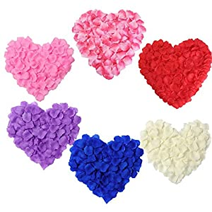 wonderfulwu 2000PCS Silk Rose Petals Artifical Flowers Wedding Decorations Bulk Supplies 37