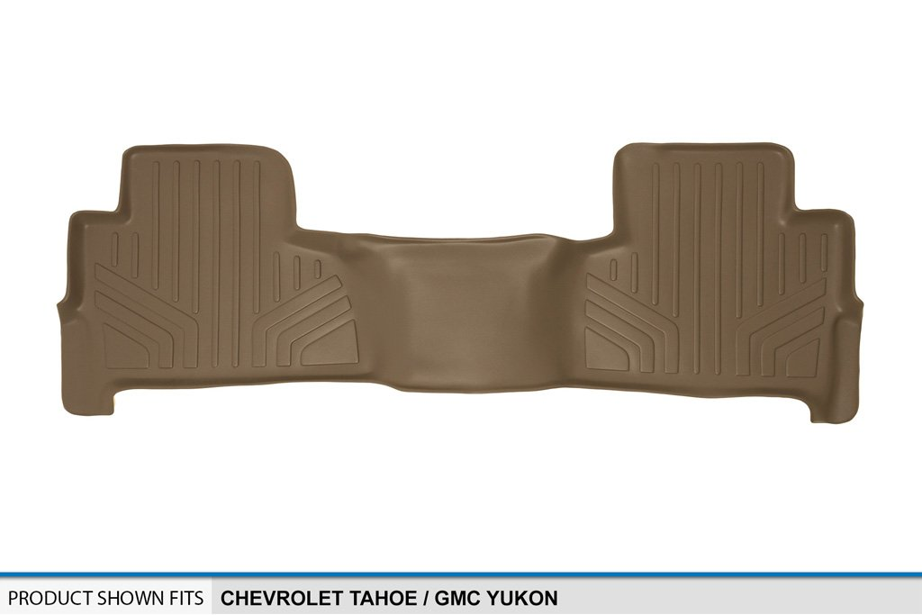 MAX LINER B1153 Custom Fit Floor Mats 2nd Row Liner Tan for 2015-2019 Chevrolet Tahoe//GMC Yukon