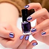 Nail Art,Jinjin Mirror Nail Polish Plating Silver Paste Metal Color Stainless Steel Mirror Silver Nail Polish (Purple)