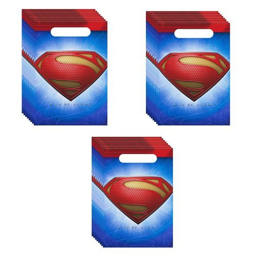 Superman Party Loot Bags - 24 Guests -