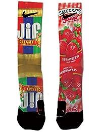 Custom Nike Elite Peanut Butter and Strawberry Galaxy Socks