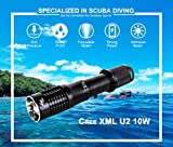 Ano F950 Dive Focus Light Push Power Switch Include ICR18650 Battery 950 Lumen