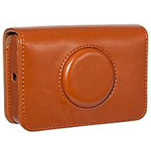 CAIUL Vintage PU Leather Case Bag for Polaroid Snap Touch Instant Print Digital Camera (Brown)