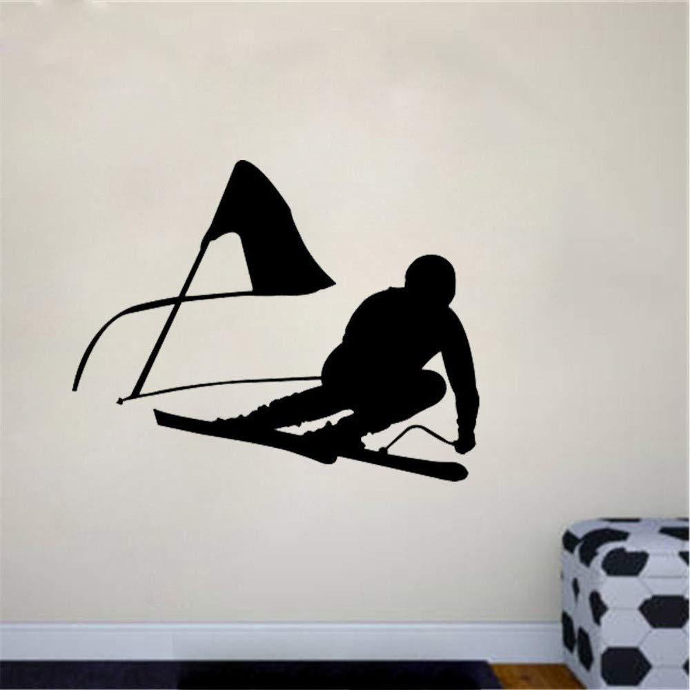 pegatina de pared 3d pegatina de pared frases Esquí alpino ...