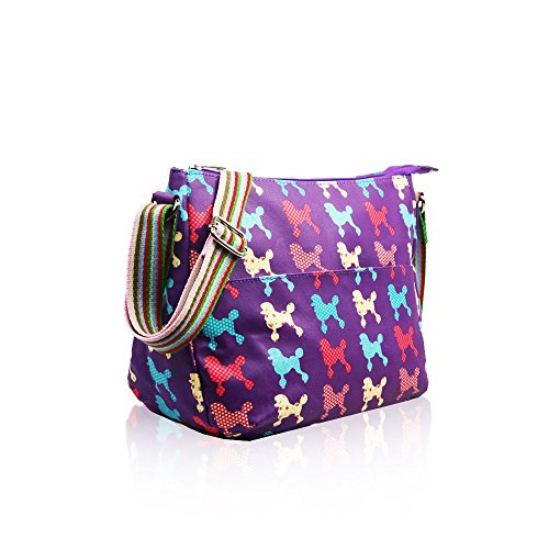 HB Style - Bolso estilo bolera para mujer Multicolor multicolor morado