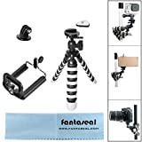 sony action cam mini accessories - Fantaseal Smartphone DSLR Camera Action Cam Tripod Holder 3-in-1 Mini Octopus Flexible Gorillapod for iPhone Samsung + Canon Nikon Camcorder+GoPro Sony SJCAM Xiaomi Yi Tripod Selfie Stand Holder