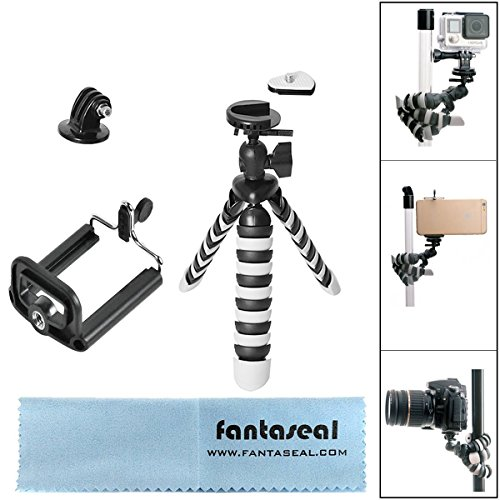 Cine Stand (Fantaseal Smartphone DSLR Camera Action Cam Tripod Holder 3-in-1 Mini Octopus Flexible Gorillapod for iPhone Samsung + Canon Nikon Camcorder+GoPro Sony SJCAM Xiaomi Yi Tripod Selfie Stand Holder)