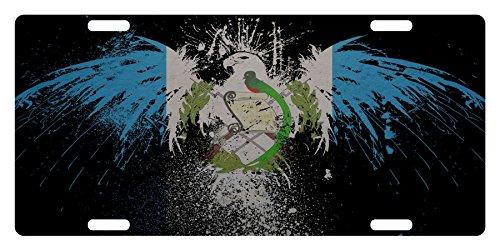 GUATEMALA Flag Custom License Plate Guatemalan Central American Emblem Version # 3 (EAGLE VERSION)