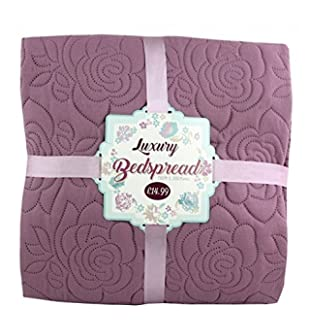 Home & Garden Luxury Plum Rose Large Bedspread Blanket Throw