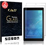 J&D Compatible for 2-Pack All-New Fire HD 10 Tablet 2017 Glass Screen Protector, [Tempered Glass] [Not Full Coverage] Glass Screen Protector for Amazon All-New Fire HD 10 Tablet 2017 Screen Protector