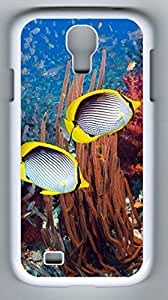 Specialdiy GUO Shop Coral Reef And Tropical Fish Hard Cover Back case cover For Samsung Galaxy S4,Hot Design White case cover for Samsung JZTQkht73Ra Galaxy S4 i9500