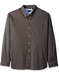 Men's Comfort Stretch No Wrinkle Long Sleeve Button Front Shirt,
