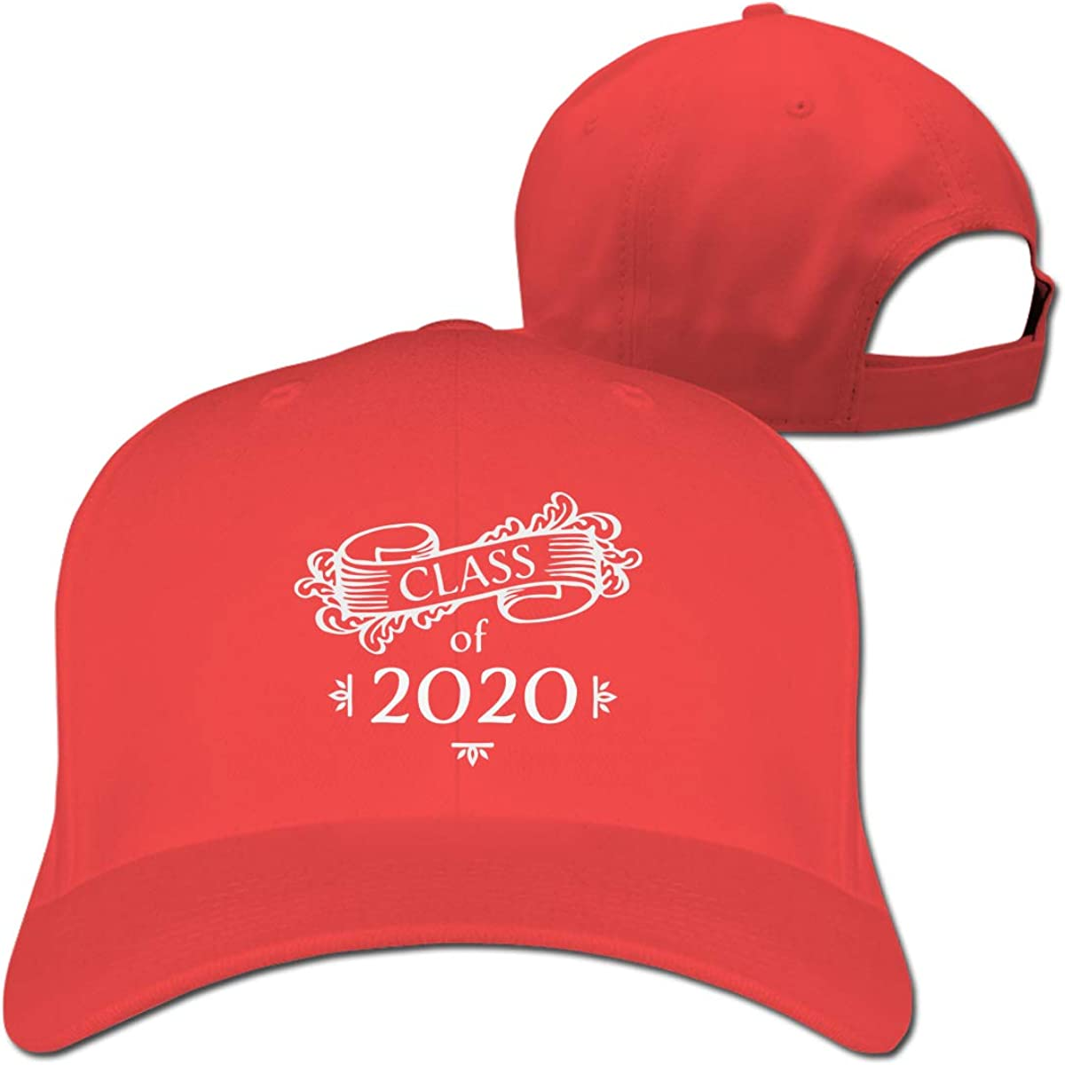 Class of 2020 Senior Year Graduation Unisex Pure Color Baseball Cap Classic Adjustable Visor Hat