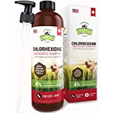 Chlorhexidine Shampoo for Dogs + Cats - 16 oz - Medicated Cat Dog Shampoo, Pet Wash for Dry Itchy Skin, Hot Spot Treatment, Mange, Odor, Yeast Infection, Allergy Itch Relief, Ringworm, Antifungal, USA