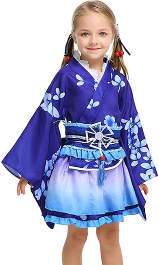 DUQA Disfraz de Halloween para niños y Disfraz Corto Yukata ...