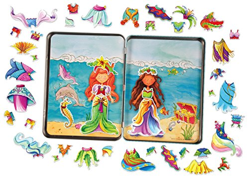 T.S. Shure Daisy Girls Mermaids Dress-Ups Magnetic Tin Playset