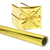 Gold Gift Wrapping Paper 26 in. x 25 FEET Roll - PREMIUM Shiny Metallic Deco Foil for Presents, Origami, Weddings, Embossing by Angel Crafts
