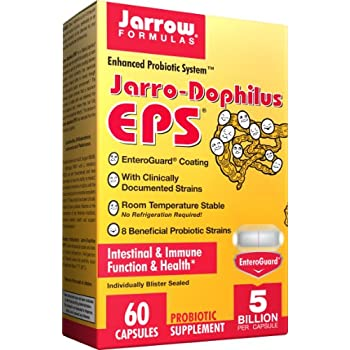 Jarrow Formulas Jarro-Dophilus EPS, 5 Billion Cells Per Capsule, Supports Intestinal Function and Health, 60 Veggie Capsules