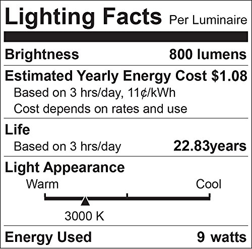 Luxrite A19 LED Light Bulb 60W Equivalent, 3000K Warm White Dimmable, 800 Lumens, Standard LED Bulb 9W, E26 Base, Energy Star, Enclosed Fixture Rated, Perfect for Lamps and Home Lighting (4 Pack)