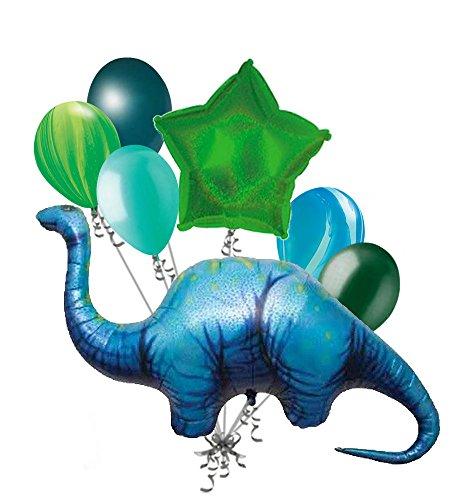 7 pc Apatosaurus Dinosaur Shape Balloon Bouquet Party Decoration Happy -