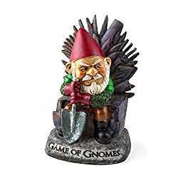 "Bigmouth Inc Game Of Gnomes Garden Gnome Statue, Hand Painted Ceramic Game Of Thrones Sculpture For Garden Or Desk, 9.5"" Tall"