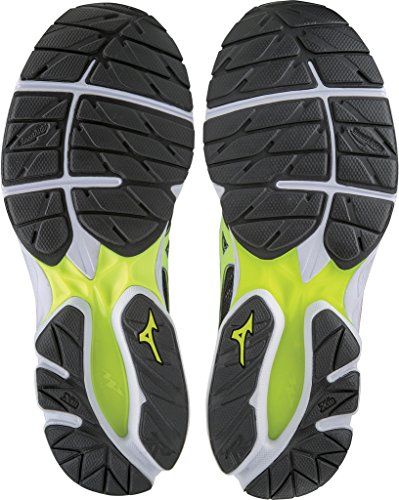 Mizuno Men's Wave Rider 21 Osaka Running Shoes, Black Multicolour (Black/Safetyyellow/White 44)