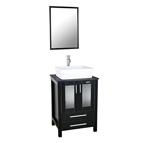 Amazon.com: eclife - Mueble de baño y fregadero de 24.0 in ...