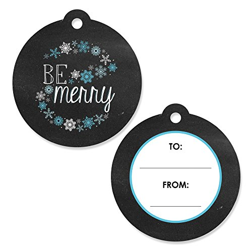 (Be Merry - Snowflake Holiday and Merry Christmas to and from Party Favor Gift Tags (Set of 20))