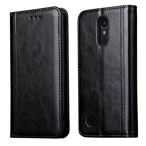 LG K20 Plus Case,LG K20 V Case,LG K10 2017/LG Harmony/LG Grace/LV V5 Case,CH-IC Luxury Leather Wallet Flip Protective Case Cover with Card Slots,Kickstand,Magnetic Closure (Black) - Inner Grace Skin Care At