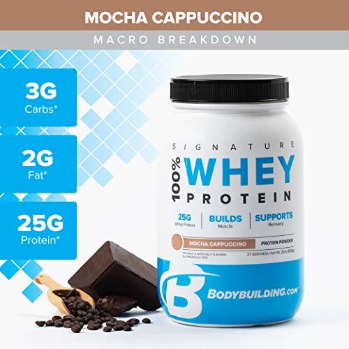 (Bodybuilding Signature 100% Whey Protein Powder | 25g of Protein per Serving (Mocha Cappuccino, 5 Lbs))