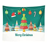 """Startview New Fashion 59.1""""51.1"""" Christmas Xmas Tapestry Hippie Room Bedspread Wall Hanging Throw Blanket (A)"""