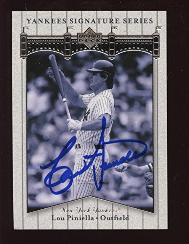 2003 Upper Deck Signature Series Lou Piniella Signed NY Yankees Baseball Card - MLB Autographed Baseball Cards