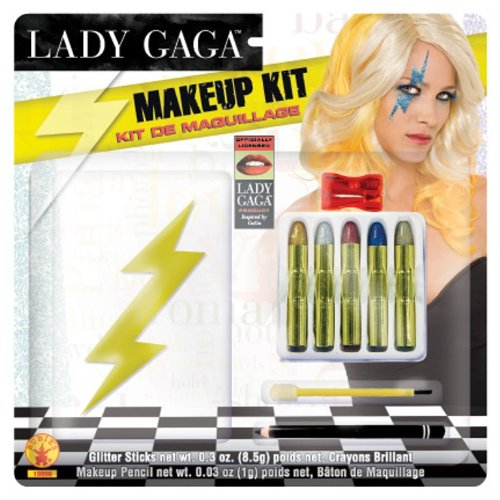 Lady Gaga Lightning Bolt Make Up Kit, Multi, One - Lady Halloween Gaga