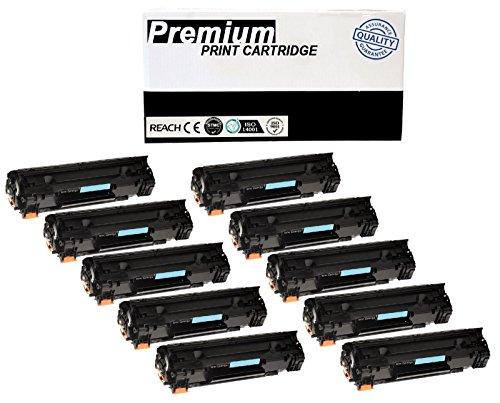 JSL 10PK CB435A Black Toner Cartridges For HP 35A Laser Jet P1004 P1005 P1006 P1009