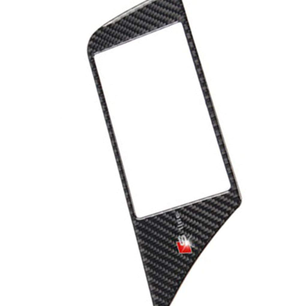 Zerama Carbon Fiber GPS Navigation Screen Frame Panel Cover Trim Sticker Adhesive Back Replacement for a4 B8 2009-2016