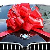 Big Red Car Bow Ribbon Pull Bows Presents Large