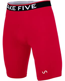 a8b3b5f29ef08f Take Five Men's Side Pocket Compression Shorts Cool Dry UV Protection  Baselayer Running Tights