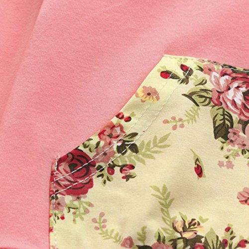 Jchen(TM)2pcs Toddler Baby Boys Girls Floral Print Hoodie Long Sleeve Tops+Pants Clothes Set Outfits (Age: 0-6 Months) by Jchen Baby Sets (Image #4)