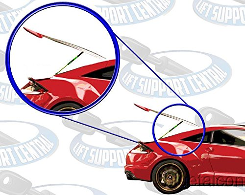 Left and Right Side WGS-520-2 Wisconsin Auto Supply Two Rear Hatch Gas Charged Lift Supports for 2003-2005 Hyundai Accent Hatchbacks Without Rear Wiper on Hatch