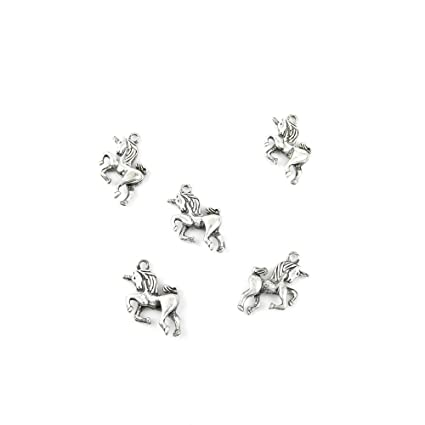 Amazon 10 pieces jewelry making charms weua05 unicorn pendant 10 pieces jewelry making charms weua05 unicorn pendant ancient silver findings craft supplies bulk lots aloadofball