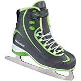 Riedell 615 Soar / Kids Beginner/Soft Figure Ice Skates / Color: Gray and Lime / Size: 1