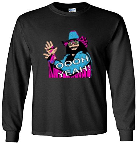 The Silo LONG SLEEVE BLACK Macho Man Randy Savage WWF T-Shirt ADULT -