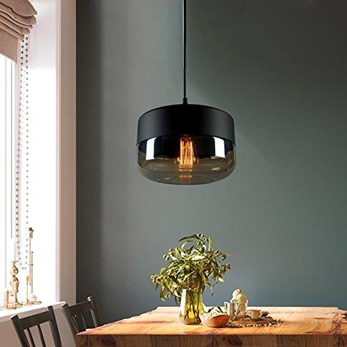 LightInTheBox Modern Black Chandelier Pendant Ceiling Light Fixture Hanging Light Lamp with Glass Shade for Living Room Bedroom Dinning Room