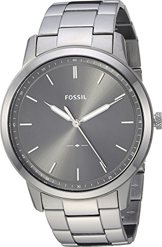 Fossil Men's 'The Minimalist 3H' Quartz Stainless-Steel-Plated Casual Watch, Color:Grey (Model: FS5459)